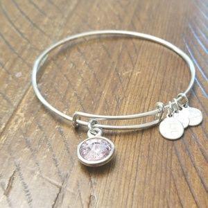 Alex and Ani bracelet- June Light pink